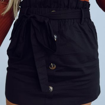 Make It Up To You Skirt: Black