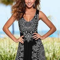 BLACK MULTI Medallion print dress from VENUS