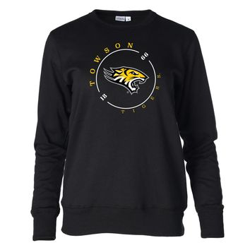 Official NCAA Towson Tigers RYLTOW11 Women's Fleece Crew Neck Sweatshirt