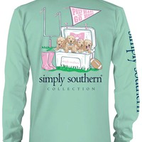 Simply Southern Preppy Collection Prep Hard Long Sleeve Tee in Fresh LS-PRPHARD-FRESH