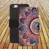 iphone 5 5s case life fire Mandara colorful iphone 4/4s iPhone 6 6 Plus iphone 5C Wallet Case,iPhone 5 Case,Cover,Cases colorful pattern L350