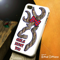 Browning Deer Girls Hunt Too iPhone 4 5 5c 6 Plus Case, Samsung Galaxy S3 S4 S5 Note 3 4 Case, iPod 4 5 Case, HtC One M7 M8 and Nexus Case