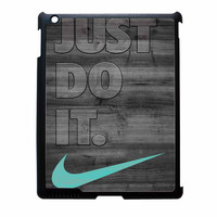 Nike Mint Just Do It Wooden Gray iPad 4 Case