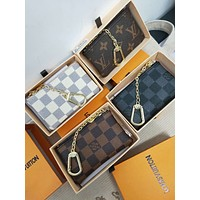 LV tide brand classic monogram men and women pocket purse zipper key case