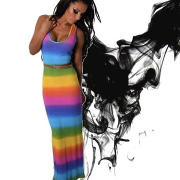 Loving Rainbow Maxi Dress
