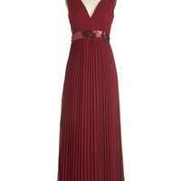 ModCloth Long Sleeveless Maxi Exceptional Event Dress
