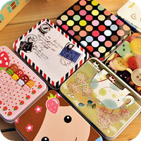 Mini Cute Kawaii Cartoon Tin Metal Box Case Home Storage Organizer For Jewelry Kids Toy Gift Home Supplies Free shipping 205