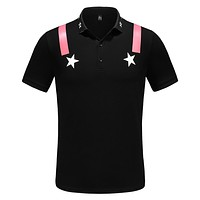 GIVENCHY Fashion Men Casual Print Short Sleeve T-Shirt Top Blouse Black