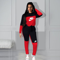 NIKE Fashion Women's Wear Hats And Sexy Two-Piece Suits