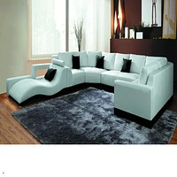 Luxury  Modern Italian/Bonded Leather Sectional Sofa
