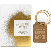 Save the Date   Foil Invitation   Reverence Collection   Bliss & Bone