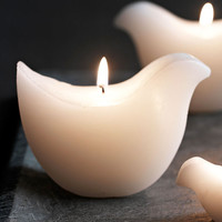 Birds of Peace Candles - Set of 2