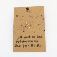 Constellation Necklace - Orion Necklace, Gold Dainty Necklace, Star Necklace, Space Jewellery, Zodiac Jewellery, Astronomy Gift - Hipster