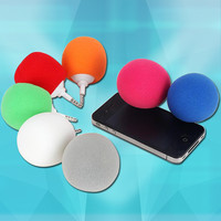 Teamyo Portable Mini Wired 3.5mm Portable Music Sponge Ball Speaker for iPhone iPad Android Mobile Cell PhonesTablet PC MP3