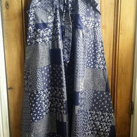 Maxi skirt long skirts boho clothing vintage womens patchwork navy blue hippie clothes festival clothing summer bohemian Dolly Topsy Etsy UK