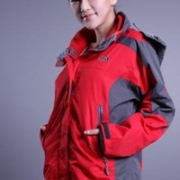 The North Face The latest womens three-in-one red