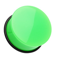 Neon Colored Acrylic Single Flared Ear Gauge Plug