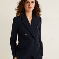 Double-breasted structured blazer - Women | Mango USA