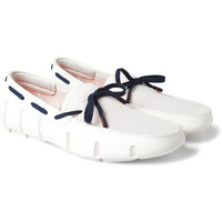 SWIMSRubber and Mesh Boat Shoes|MR PORTER