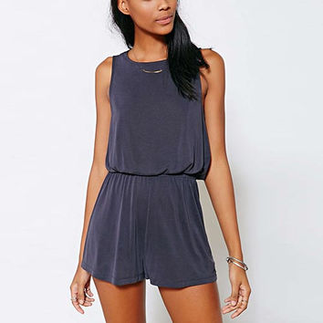 Purple Twist-Back Romper