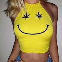 Hemp Smiley Face Tank Top