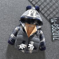Winter hooded baby boys jackets for newborns babies cotton jacket coats baby girl 1st birthday clothing infant clothes outerwear