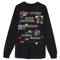 Dot Collage L/S Tee in Black
