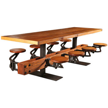 Dept 87, Swing Out Seat Table with Wooden Top