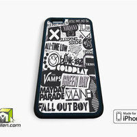 The xx, coldplay, arctic monkeys, the neighbourhood, sleeping with sirens ,The 1975 Band iPhone Case 4, 4s, 5, 5s, 5c, 6 and 6 plus by Avallen