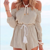 Wrapped in suit cuff jumpsuits beach holiday