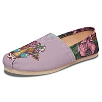 Floral Cow Casual Shoes