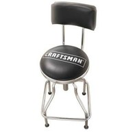 Chrome/Vinyl Hydraulic Hydraulic Stool