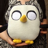 Gunter the Penguin plush Adventure Time toy by sappymoosetree