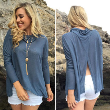 High Neck Long Sleeve Jacket in Grey or Pink