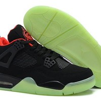 Cheap Nike Air Jordan 4 Air Yeezy 2 Black Solar Red
