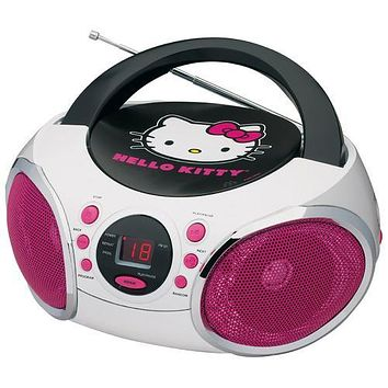 Hello Kitty Portable Stereo CD Boombox