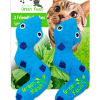 All For Paws Green Rush Cat Toy Silly Snake with Catnip 2pk