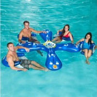 """Ahh-Qua Bar"" Inflatable Pool Float with 4 Sun Seats - OnlineSports.com"