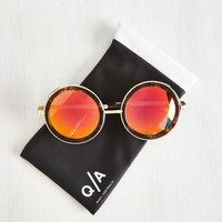Vintage Inspired Hashtag Throwback Thursday Sunglasses by Quay from ModCloth