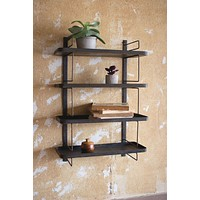 Metal Wall Unit With 4 Shelves
