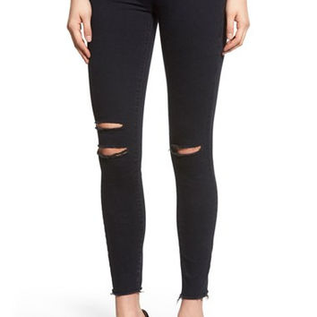 Destroyed Crop Skinny Jeans (Blue Mercy)