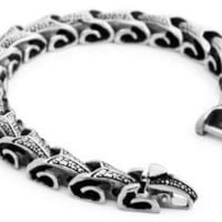 Mens Silver 316l Stainless Steel Vintage Chain Link Bracelet Wrist Band Chains: Jewelry: Amazon.com