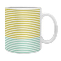 Allyson Johnson Mint And Chartreuse Stripes Coffee Mug