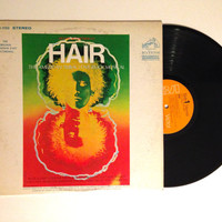 Vinyl Album Hair The American Tribal Love Rock Musical The Original Broadway Cast Recording LP Record 1968 Psychedelic Rock
