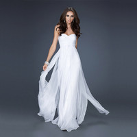 Ladies Slim Bridesmaid Strapless Solid Cocktail Wedding Dress
