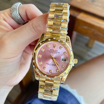 Rolex Fashion Men's and Women's Dial Diamond Watches