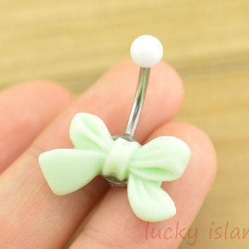 belly ring,little bow belly button rings,navel ring,bow piercing belly ring,friendship gift