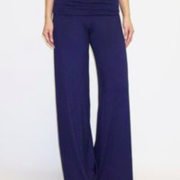 Women's Linen Resort Pants Navy Blue