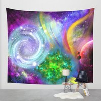 Rainbow space Wall Tapestry by Haroulita | Society6