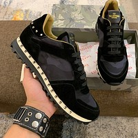 Best Quality Valentino 2020 Popular Men Casual Breathable Canvas Sneakers Running Shoes  TREDING mens Valentino low top shoe